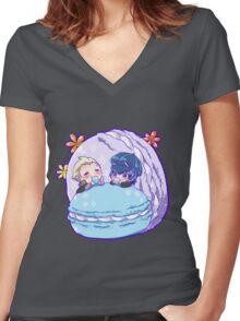 Kannao - Macarons Women's Fitted V-Neck T-Shirt
