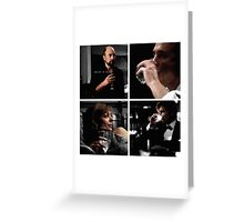 Raise a glass to the four of us Greeting Card