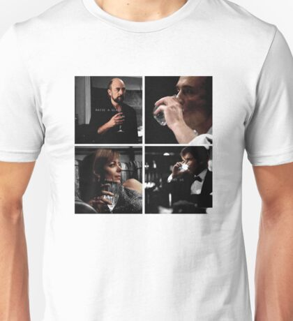 Raise a glass to the four of us Unisex T-Shirt