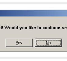 Windows God Not Found Dialogue Box Sticker