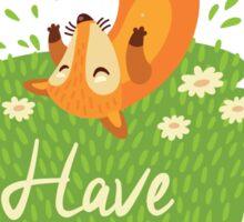 Cute foxes Sticker