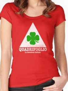 Quadrifoglio Vintage Graphic  Women's Fitted Scoop T-Shirt