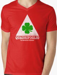 Quadrifoglio Vintage Graphic  Mens V-Neck T-Shirt