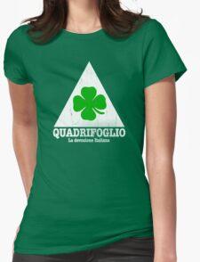 Quadrifoglio Vintage Graphic  Womens Fitted T-Shirt