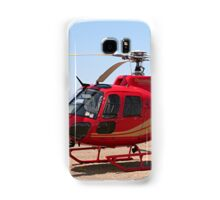 Helicopter, red, aircraft Samsung Galaxy Case/Skin