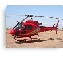 Helicopter, red, aircraft Canvas Print