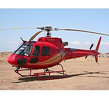 Helicopter, red, aircraft Photographic Print
