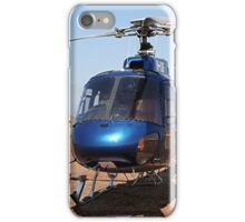 Blue helicopter aircraft iPhone Case/Skin