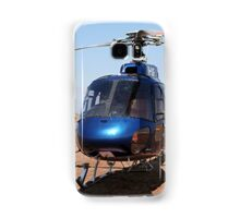 Blue helicopter aircraft Samsung Galaxy Case/Skin