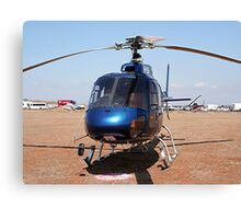 Blue helicopter aircraft Canvas Print