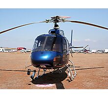 Blue helicopter aircraft Photographic Print
