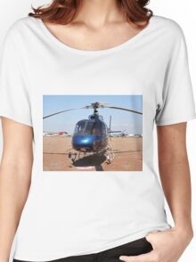 Blue helicopter aircraft Women's Relaxed Fit T-Shirt