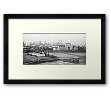 Melbourne Skyline Framed Print