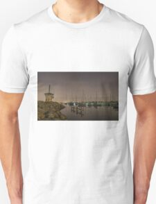 Brighton Marina at night Unisex T-Shirt