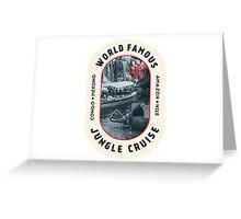 World Famous Jungle Cruise travel sticker Greeting Card