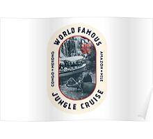 World Famous Jungle Cruise travel sticker Poster