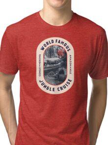 World Famous Jungle Cruise travel sticker Tri-blend T-Shirt