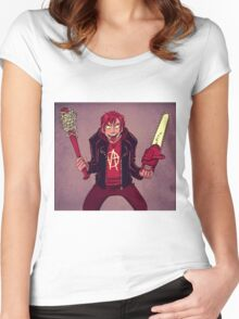 Duel Wielding Women's Fitted Scoop T-Shirt