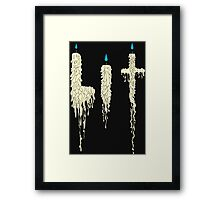 Lit: Drunken Candles (cream) Framed Print
