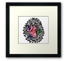 Butterfly beating heart Framed Print