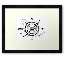The Helm's Compass Framed Print