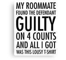 New Girl - Guilty shirt Canvas Print