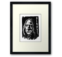 Snape Alan Rickman Framed Print