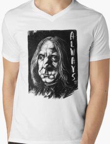 Snape Alan Rickman Mens V-Neck T-Shirt
