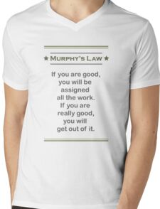 Murphy's Law - Ultimate Office Humor Mens V-Neck T-Shirt