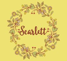 Scarlett lovely name and floral bouquet wreath Kids Tee