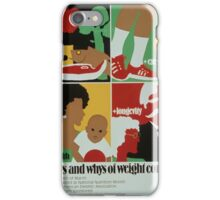 Medical Vintage Poster , Ways and whys of weight control iPhone Case/Skin