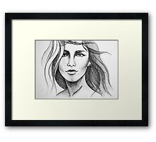 Hair Woman Framed Print