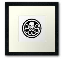 hydra shield marvel Framed Print
