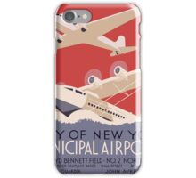 New York City municipal airports, WPA poster,  iPhone Case/Skin