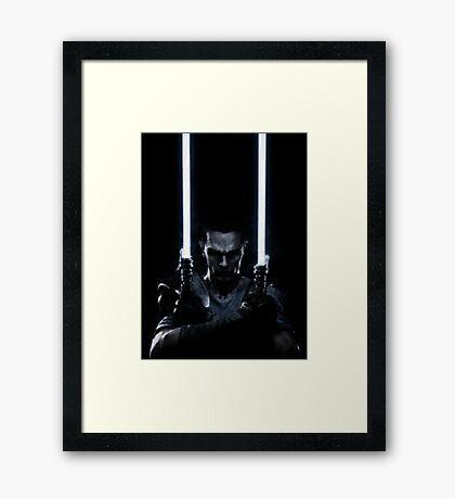 Lightsaber dude Framed Print