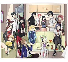 Weekends with Anime Characters Poster