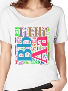 Colorful alphabet Women's Relaxed Fit T-Shirt