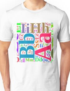 Colorful alphabet Unisex T-Shirt