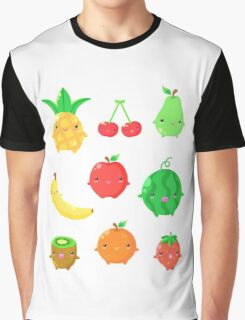 Cute Fruit Friends Graphic T-Shirt