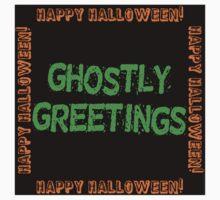 Ghostly Greetings Kids Tee