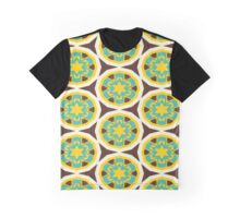 Blue yellow flowers pattern Graphic T-Shirt