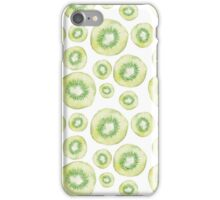 Kiwi slice watercolor print iPhone Case/Skin