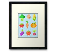 Cute Vegetable Friends Framed Print