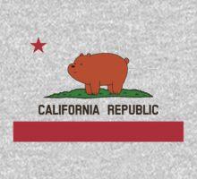 California Republic Bear Baby Tee