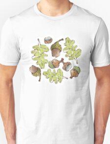 Oak Leaves and Acorns Unisex T-Shirt