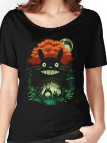 Totoro Dark Night Women's Relaxed Fit T-Shirt