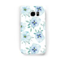 Watercolor floral pattern with pansies and azaleas Samsung Galaxy Case/Skin
