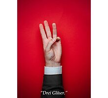 Minimalist Tarantino- Inglourious Basterds Quote Photographic Print