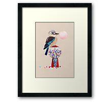 Bird gumball machine Kookaburra Framed Print