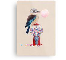 Bird gumball machine Kookaburra Metal Print